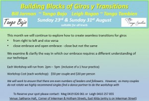 August Thematic Workshops - Giros