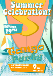 Summer Celebration Milonga Poster